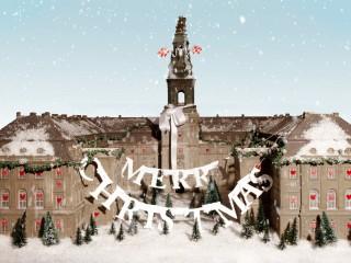 Julekort fra Christiansborg