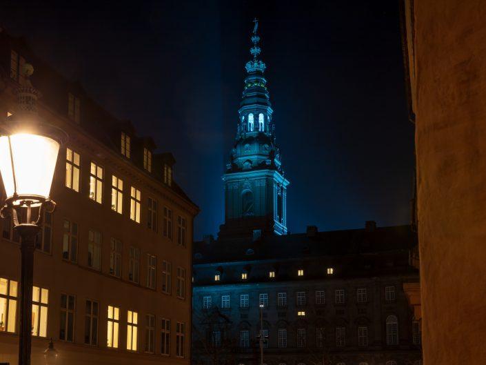 Lys  Folketinget Christiansborg 1